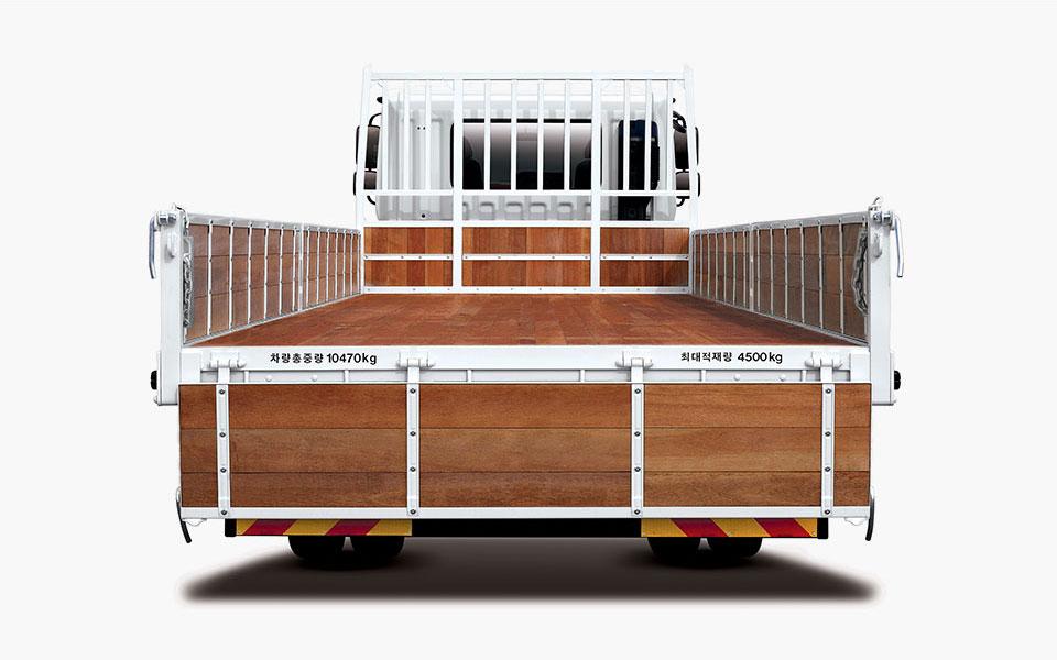 차량 총 중량 10470kg / 최대적재량 4500kg